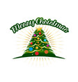 christmas tree with colorful circles vector image vector image