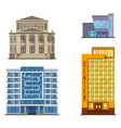 city buildings modern tower office architecture vector image vector image