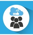 cloud computing service wifi router vector image vector image