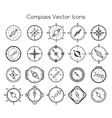 Compass line icons vector image