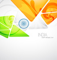 creative indian flag vector image vector image
