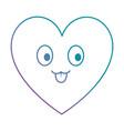 cute heart kawaii character vector image vector image