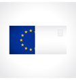 Envelope with flag of Europe card vector image vector image