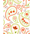 floral paisley seamless vector image vector image