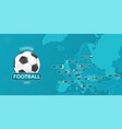 for imaginary football cup vector image