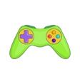 Game controller icon cartoon style vector image vector image
