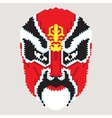 Geometric chinese mask vector image