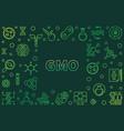 gmo concept horizontal outline green frame vector image vector image