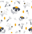 gold and grey flower circles seamless pattern vector image vector image