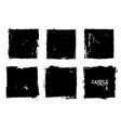 grunge style set of square shapes vector image