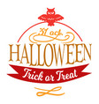 happy halloween lettering logo sign vector image vector image