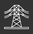 High voltage electric line chalk icon