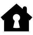 Home security icon vector image
