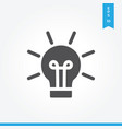 idea icon simple sign for web site and mobile app vector image