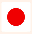 japan square flag button social media vector image