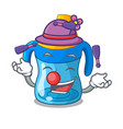 juggling baby training cup isolated on mascot vector image vector image