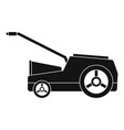 lawn mower machine icon simple style vector image vector image