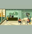 modern urban eco green office reception interior vector image