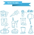 Object New Year icons collection stock vector image vector image