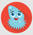Ocean jellyfish cartoon icon vector image