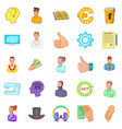 offshore icons set cartoon style vector image vector image