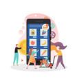 online farmers market concept for web vector image