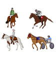 people riding horses vector image vector image