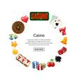 realistic casino gamble in circle vector image vector image