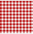 red checkered texture restaurant seamless pattern vector image vector image