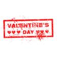 red Valentine grunge hearts stamp vector image