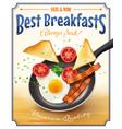 Restaurant Breakfast Advertisement Retro Poster vector image