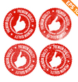 Rubber stamp premium quality - - EPS10 vector image vector image