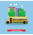 school bus in flat style vector image