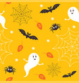 seamless halloween pattern cute little ghostes vector image vector image