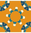 Seamless indian pattern on orange background vector image vector image