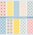 seamless wallpaper patterns vector image