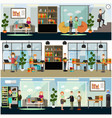 set of business posters banners in flat vector image vector image