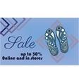 shoe sale banner template shoe sole design vector image vector image