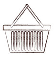 shopping basket icon in brown blurred silhouette vector image vector image