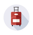suitcase icon with long shadow on white vector image