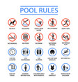 swimming pool rules vector image vector image