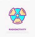 symbol radioactivity thin line icon vector image