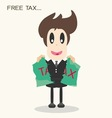 Taxripped paperbusiness man vector image