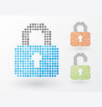 the lock icon in combination vector image