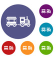 toy train icons set vector image vector image