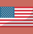 usa flag united states of america symbol vector image vector image