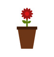 vase icon with flower vector image
