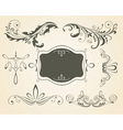 Vintage scrolls and frame des vector | Price: 1 Credit (USD $1)
