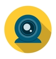 Web camera icon flat vector image vector image