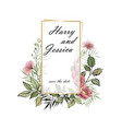 wedding invitation floral invite vector image vector image